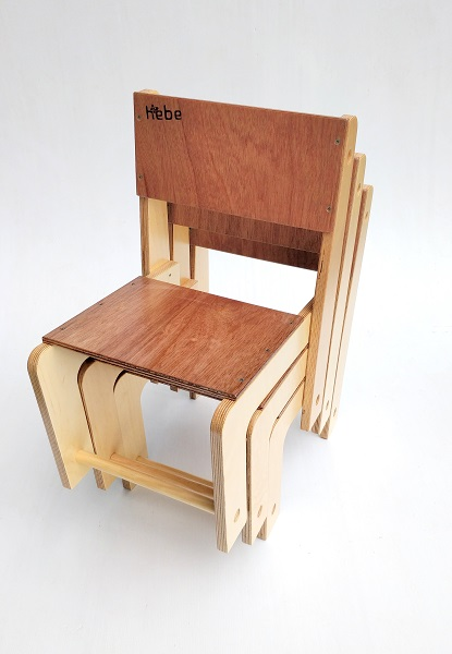 Stackable Seat Hebe Natural Childrens Furniture Wooden Chairs NZ WEB