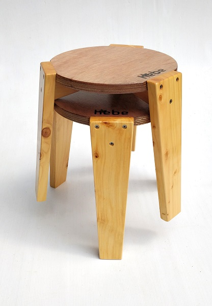 Stackable Stool Hebe Natural Childrens Furniture Wooden Seat Stools NZ WEB