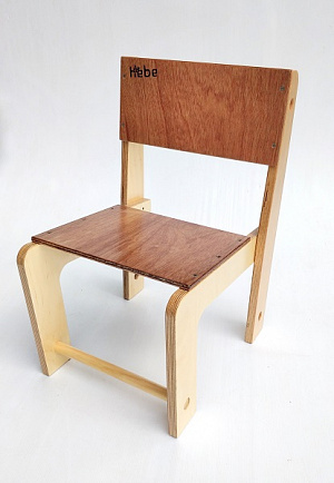 Stackable Seat Hebe Natural Childrens Furniture Wooden Chair NZ WEB