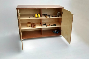 Carpentry Cupboard Hebe Natural Childrens Furniture Tool Cabinet Play Early Childhood Education NZ