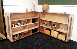 Hinged Shelving Block Display Hebe Natural Childrens Furniture NZ