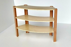 Classic Curved Shelf 900mm High Wooden Shelving Hebe Natrual Childrens Furniture NZ