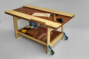 Carpenters Table With Vise Hebe Natural Childrens Furniture Carpentry Play Early Childhood Education NZ