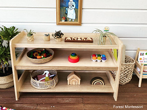 Puzzle Bookstand Forrest Montessori NZ Hebe Natural Childrens Furniture