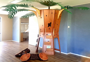 Learing Tree Hebe Natural Childrens Furniture Early Childhood Education Childcare Design Bookshelf Reading Nook Shelving NZ WEB