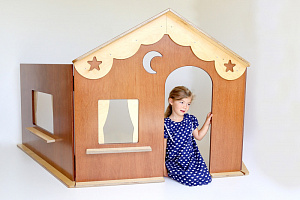 Whare Iti Wendy House Hebe Natural Childrens Furniture Kids Play NZ