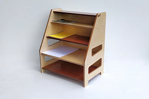 Art Paper Storage Hebe Natural Childrens Furniture NZ ECE Education Shelf